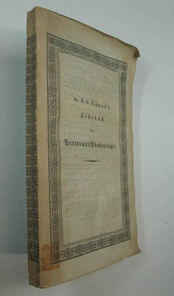 lehrbuch der veterin r physiologie m nchen finsterlin 1826 8 xiv 192 s obrosch. Black Bedroom Furniture Sets. Home Design Ideas