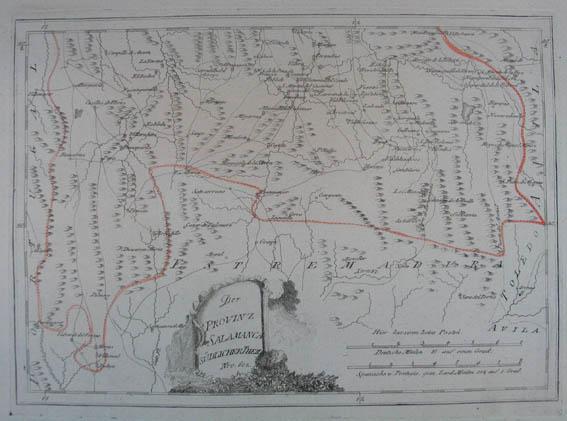Salamanca Spanien Karte.Antiquariat Kunsthandlung Johannes Mueller